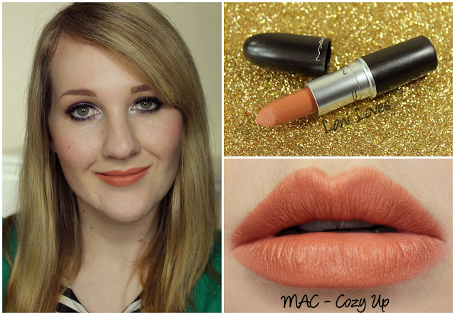 MAC Cozy Up lipstick swatch