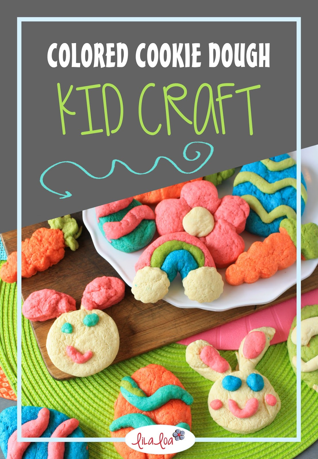 cookie dough - play dough! Easy Easter craft for kids!