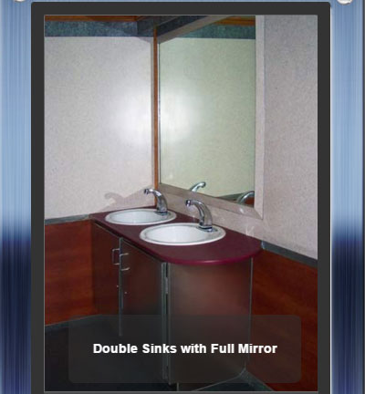 The Newport 1600 Double Sinks with Mirror