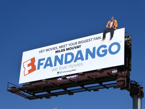 Fandango biggest fan Miles Mouvay billboard