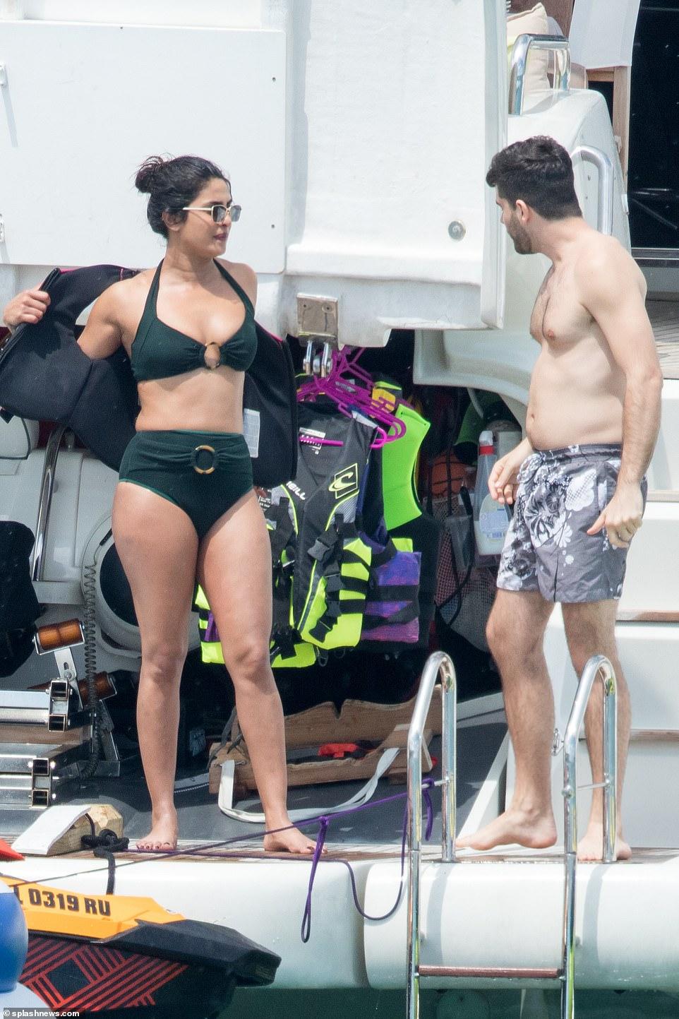 Priyanka Chopra shows off her incredible figure in chic green bikini