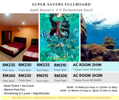 PROMO AUG SEPT AYAH HOSTEL PERHENTIAN KECIL