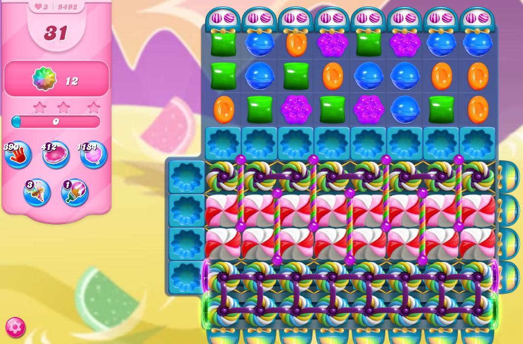 Candy Crush Saga level 9492