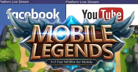 cara live Mobile Legends di Facebook dan Youtube