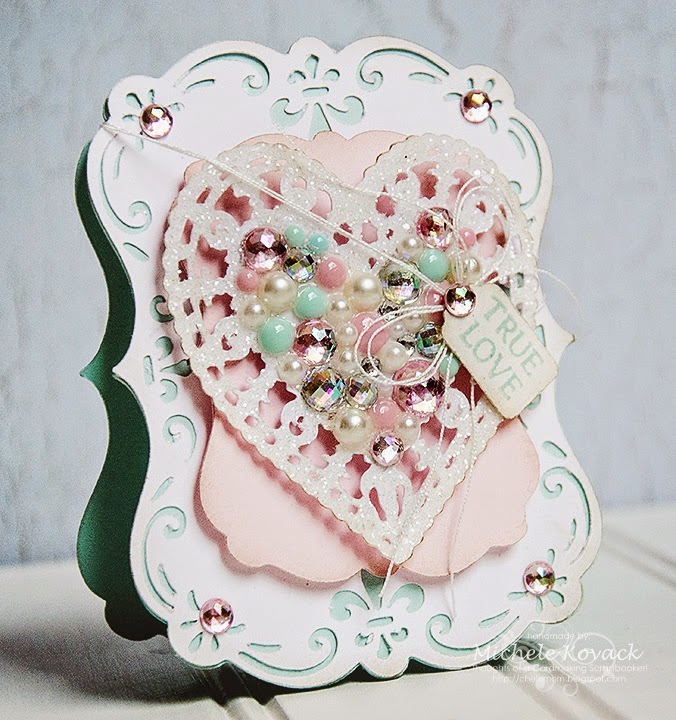 Cricut Valentines Day Card Sentimentals Edge to Edge Michele Kovack