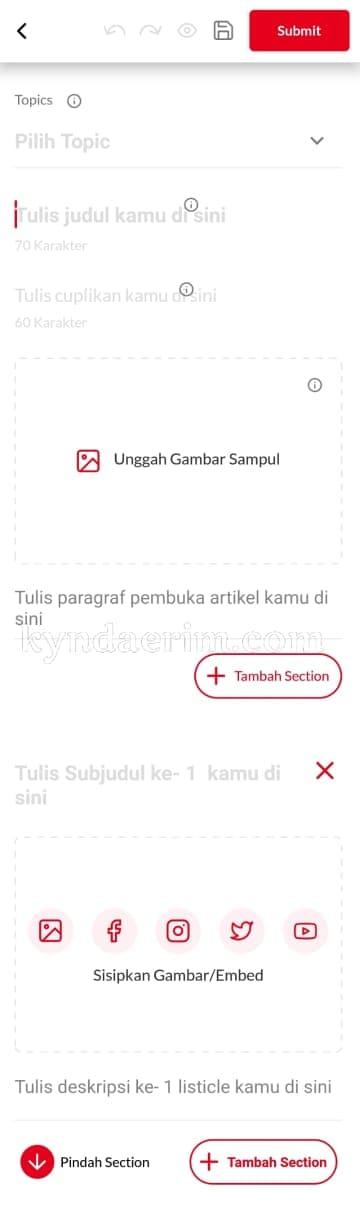 Cara menulis di IDN App