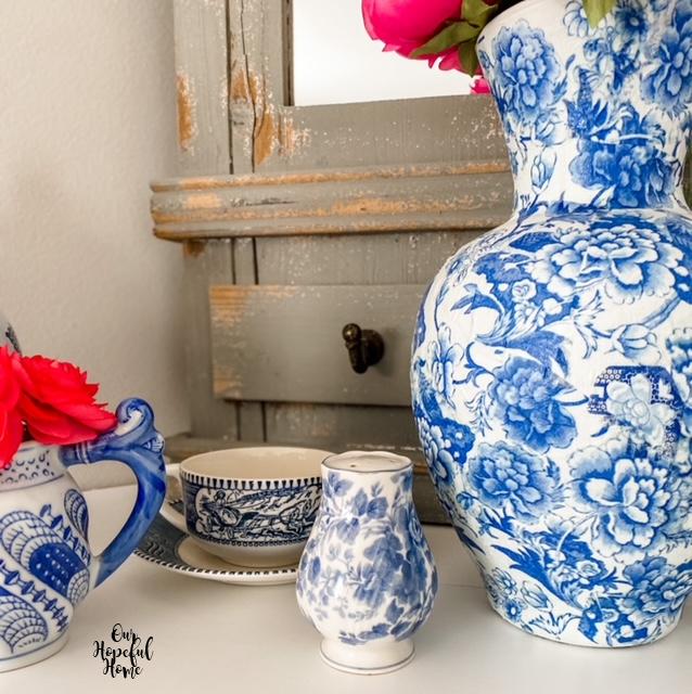 chinoiserie creamer tea cup vase shaker