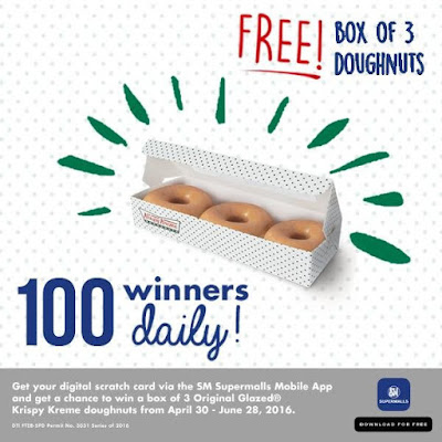 Hey there sweet tooths!: SM Supermalls ties up with Krispy Kreme to give you the biggest free doughnut treat! 🍩