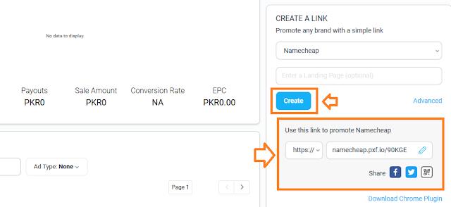 Create Default referral link on Impact Radius
