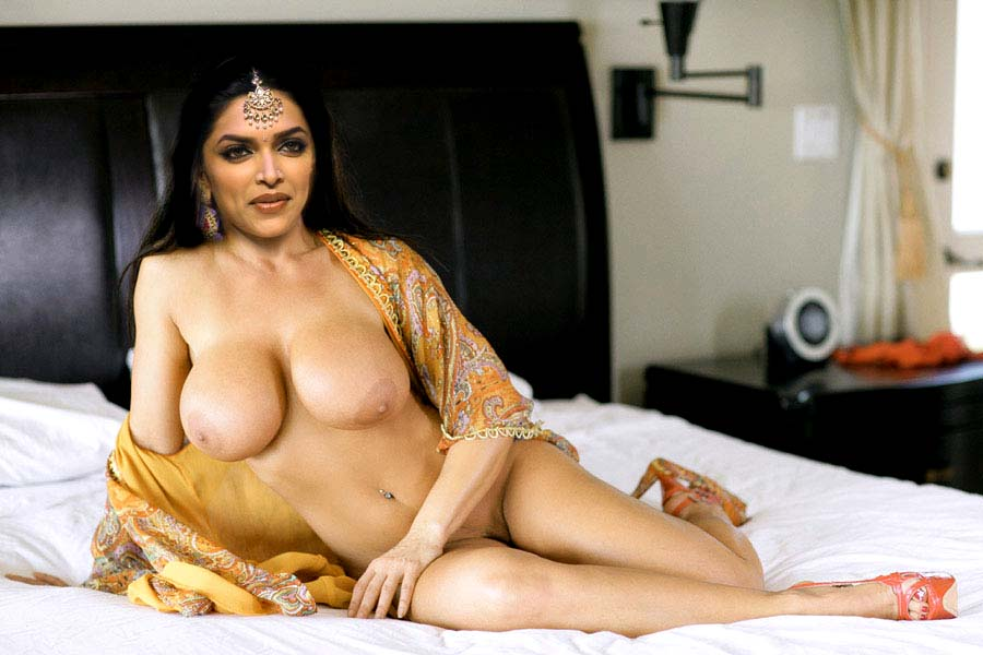Deepika Padukone Lying Nude on Bed