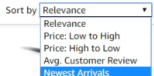 Amazon 搜尋結果排序方式