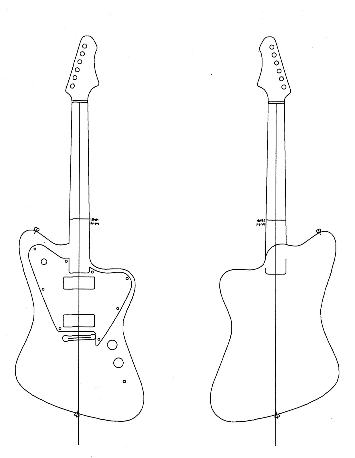 5d8f2a1f4 simple work: Detail Electric guitar plans and templates