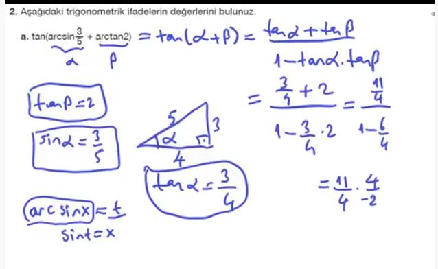 11. Sınıf Matematik Nova Yayınları Ders Kitabı 208. Sayfa İleri Düzey Çözümleri