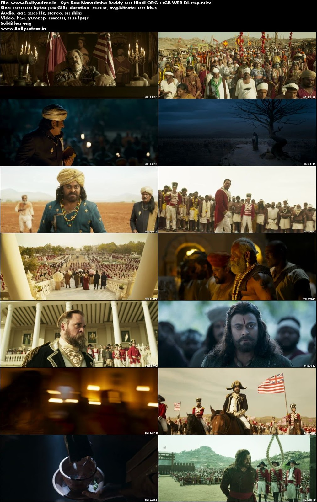Sye Raa Narasimha Reddy 2019 Hindi ORG 400MB WEB-DL 480p