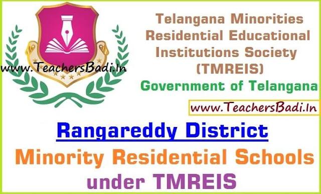 Rangareddy District,Minority Residential Schools,TMREIS