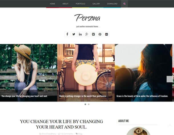 Persona - SEO friendly Responsive blogger template