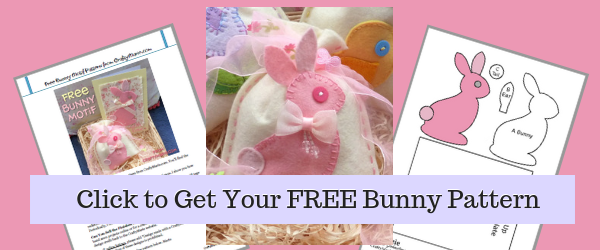 free bunny template pattern from craftymarie.com