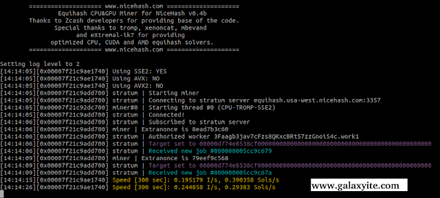 Script Mining di nicehash OS linux nheqminer with cpu