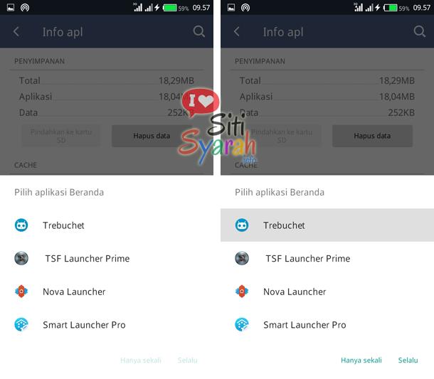 mengganti launcher default di android