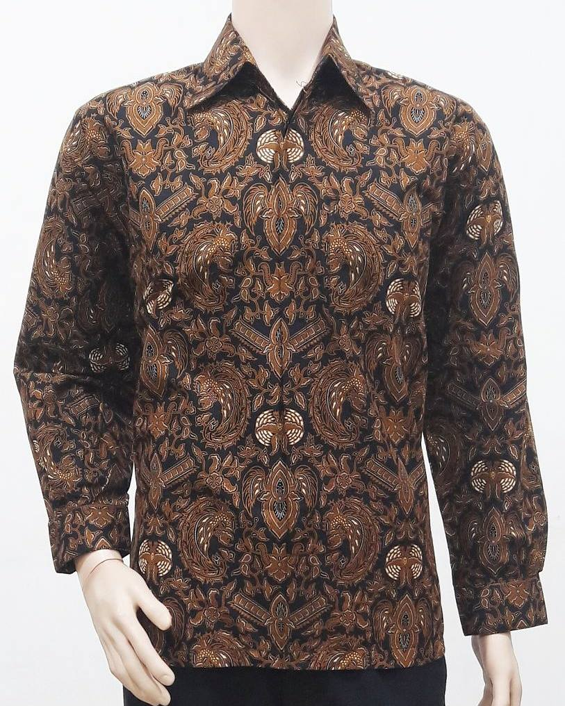 Batik Untuk Pria Remaja: Model Baju Batik Pria Motif Sogan
