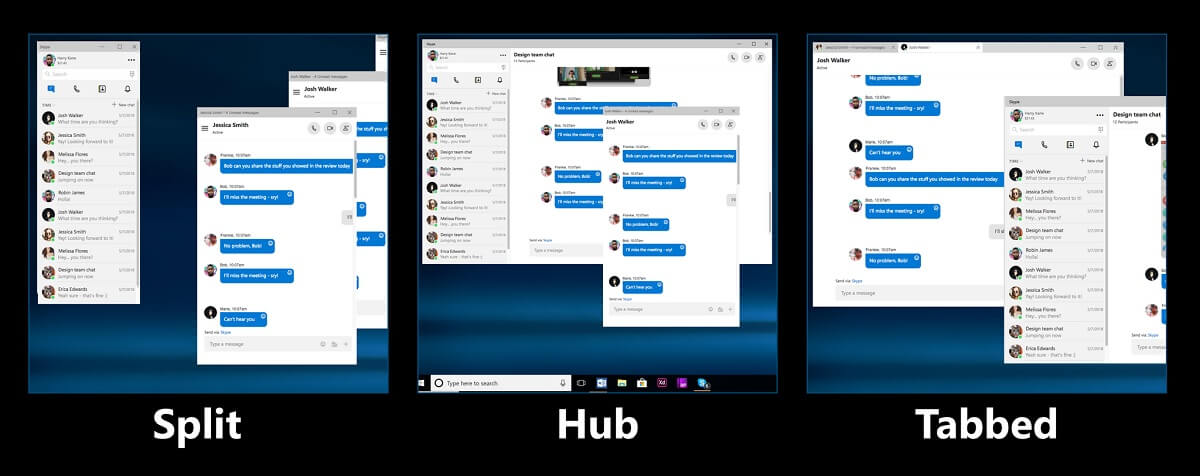 Microsoft Is Thinking About Bringing Split View To Skype's New Windows 10 Application