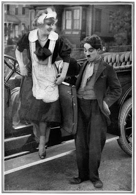 """Чарли Чаплин и Эдна Первайэнс в фильме """"Работа"""" / Work (1915) 2"""