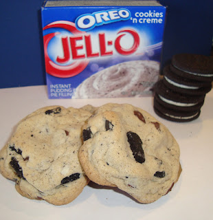 Triple Oreo Pudding Cookies Dip it in Chocolate