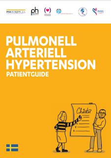 Bild som visar omslaget på folder PAH-patientguide
