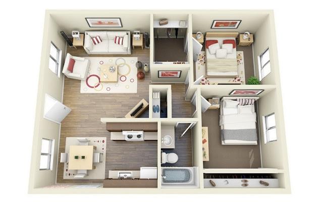 Ide Denah Rumah Minimalis Sederhana