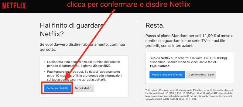 Come disdire Netflix con un click_risultato