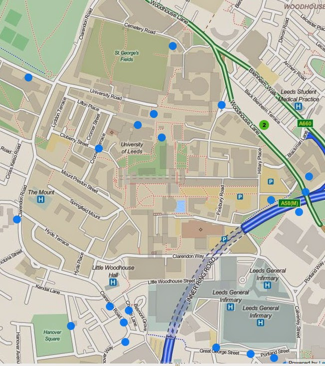 Particulations: Open Source Mapping: Blue Plaques on Campus