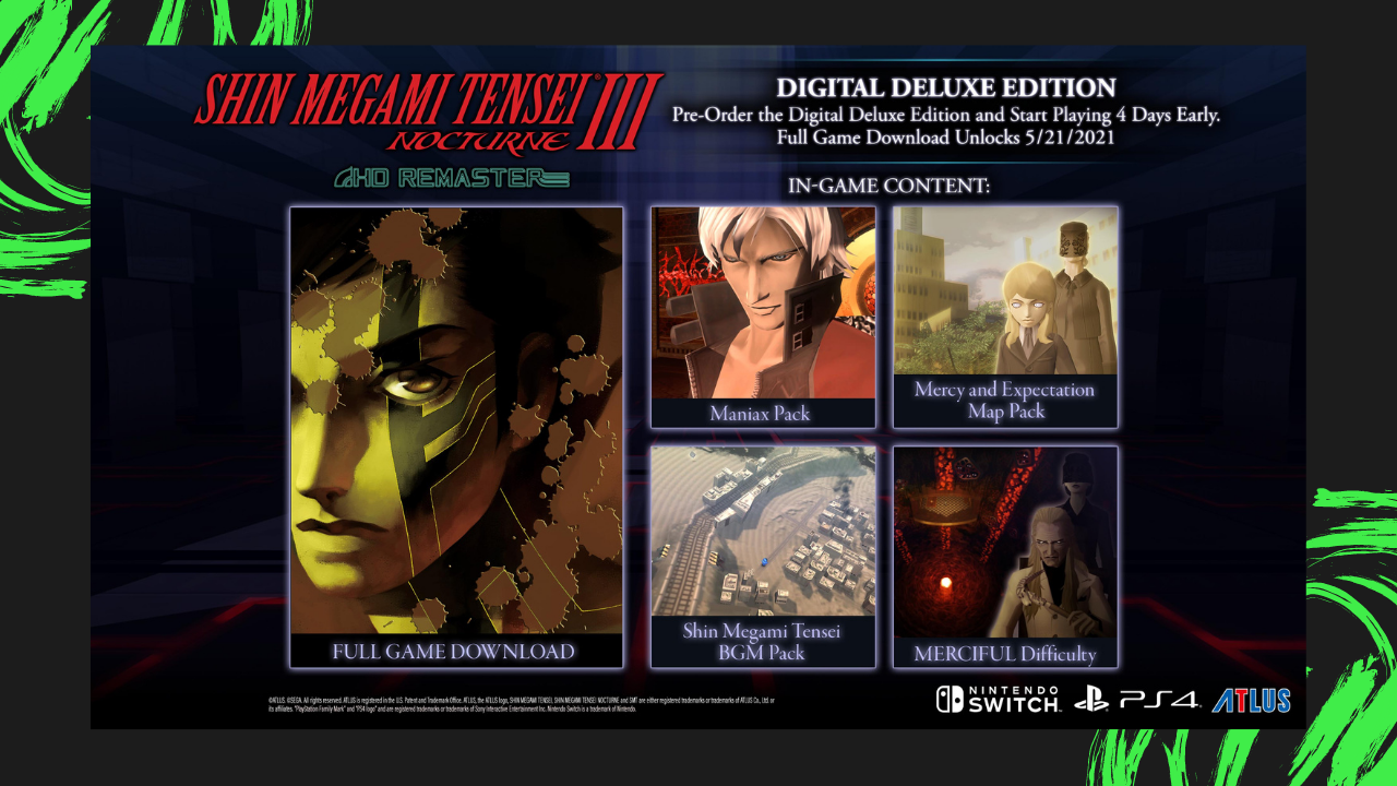 Much-Awaited Shin Megami Tensei III Nocturne HD Remaster Now Available for PS4, Nintendo Switch and Steam Ranneveryday