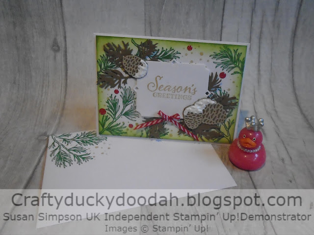 Craftyduckydoodah!, Peaceful Boughs, Beautiful Boughs Dies, Susan Simpson UK Independent Stampin' Up! Demonstrator, Supplies available 24/7 from my online store, Christmas 2019, Hopping Around The World,