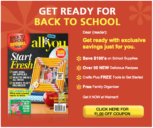 Back to School Coupons: $1 Off All You Magazine's Back To School Issue | Your Retail Helper