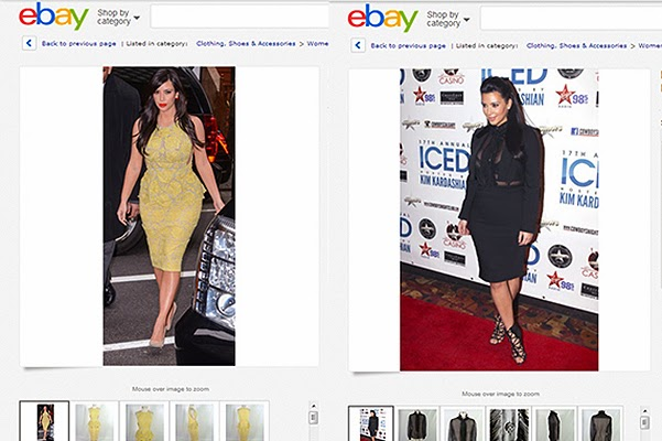 Kim Kardashian sells her clothes on eBay