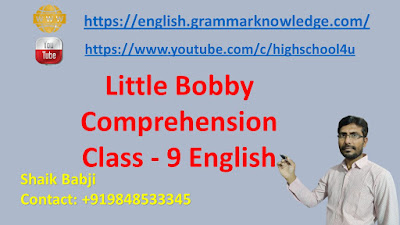 Little Bobby Comprehension Class - 9