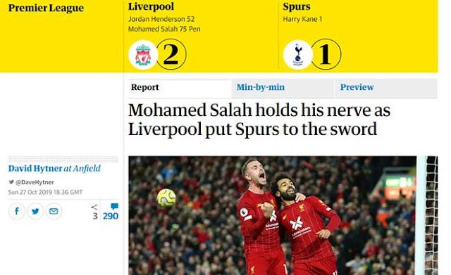 """Liverpool xuất sắc hạ Tottenham: Báo Anh ngợi ca """"trùm ngược dòng"""" 2"""