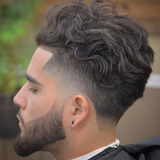 Low Fade Curly Hair