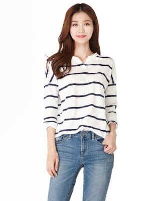 Giordano Striped Tops