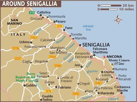 Cartina Italia Senigallia.Mappa Della Citta Di Provincia Regionale Italia Mappa Regione Senigallia