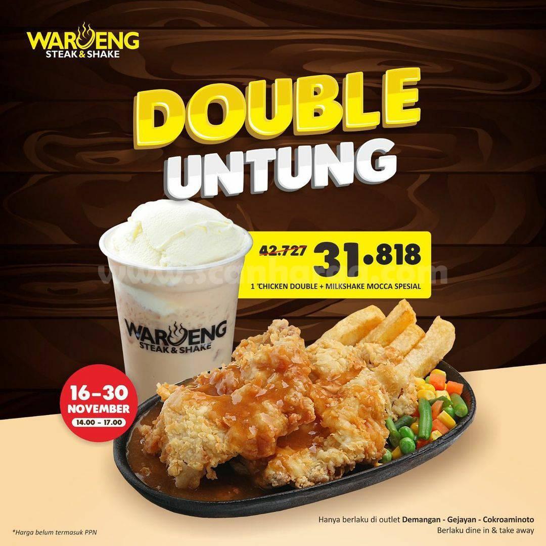 Promo Waroeng Steak & Shake Paket Double Untung harga hanya Rp31.818