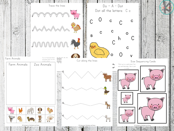 FREE Farm Animals Worksheets
