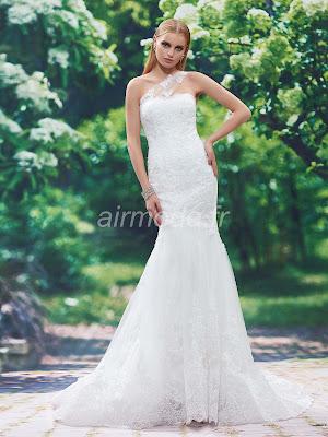 une épaule en l'église d'automne - hiver de toutes tailles la robe de mariée de l'été naturel manches
