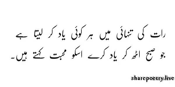 Raat Ki Tanhai Mein Har Koi Yaad Kar Laita Hai-Yaad Poetry