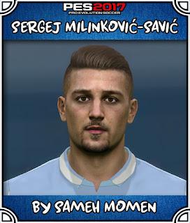 PES 2017 Faces Sergej Milinković-Savić by Sameh Momen