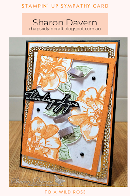 Rhapsody in craft, To A Wild Rose, Woven Heirlooms, Ornate Layer Dies, Stitched Rectangle Dies, In Good Taste DSP, Thinking of You, Pumpkin Pie, Heat Embossing, #colourcreationsshowcase, Stampin' Up, Annual Catalogue 2021,