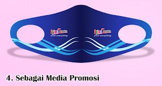 Bisa Digunakan Sebagai Media Promosi merupakan keuntungan menjadikan masker sebagai souvenir