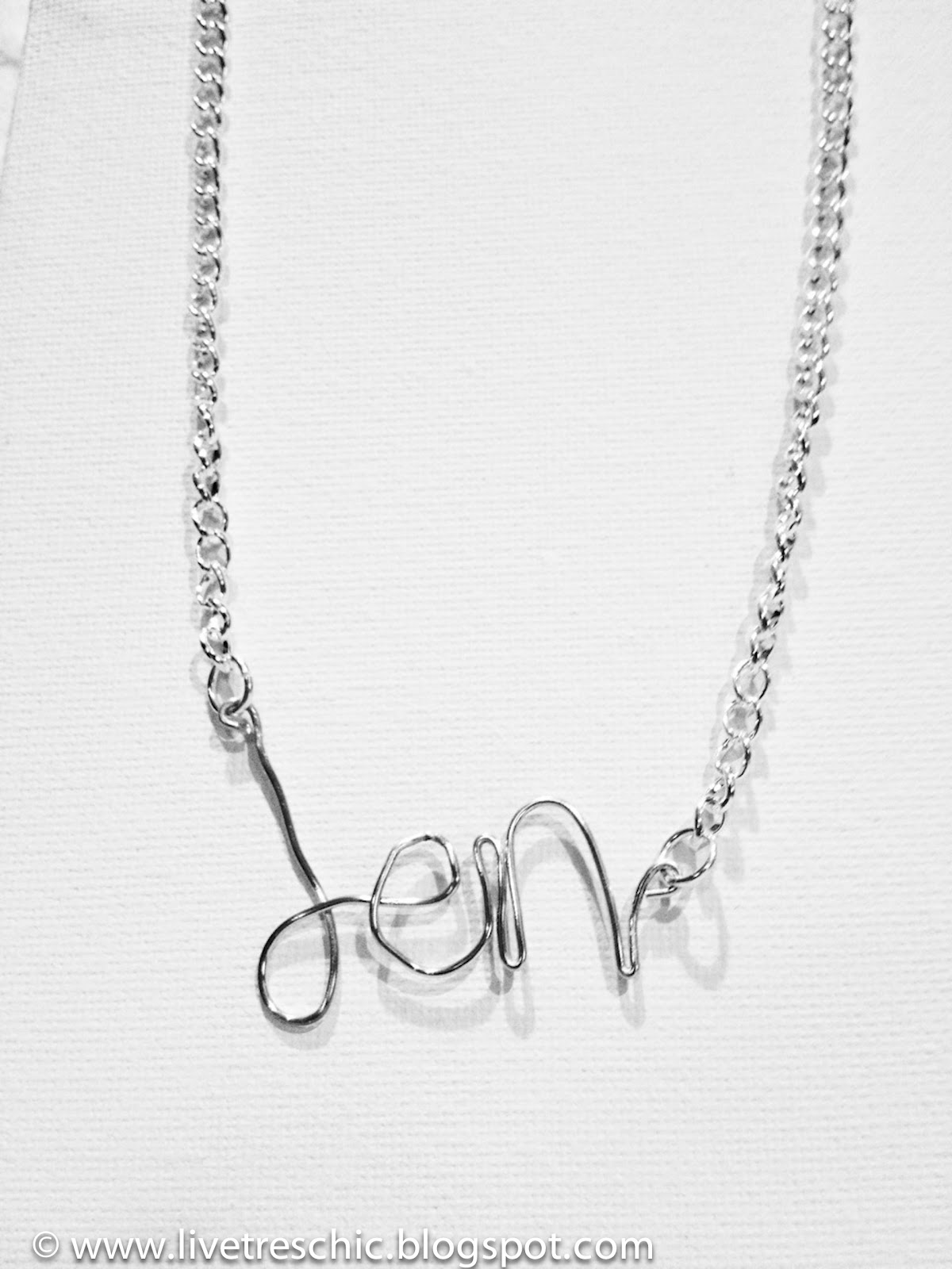 Diy Name Necklace Inspired By Elim Jewelry