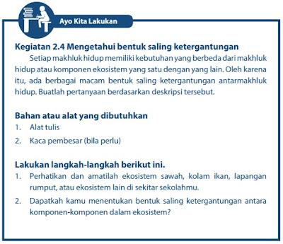 Kunci Jawaban Buku Paket IPA kelas 7 semester 2 halaman 39 40 Kurikulum 2013
