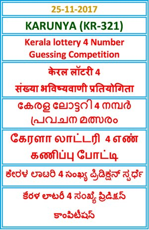 4 Number Guessing Competition KARUNYA KR-321